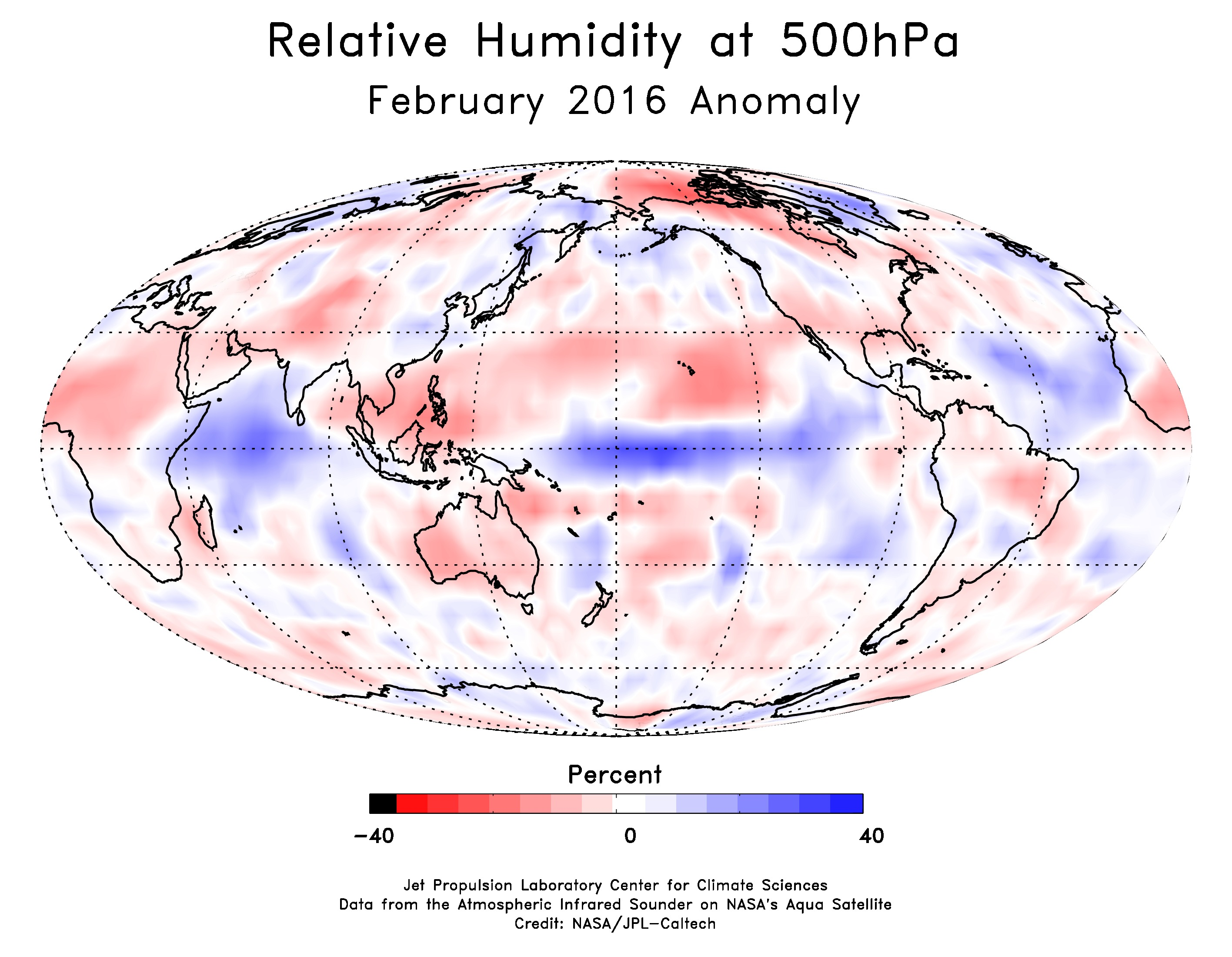 relative humidty at 500hpa February 2016
