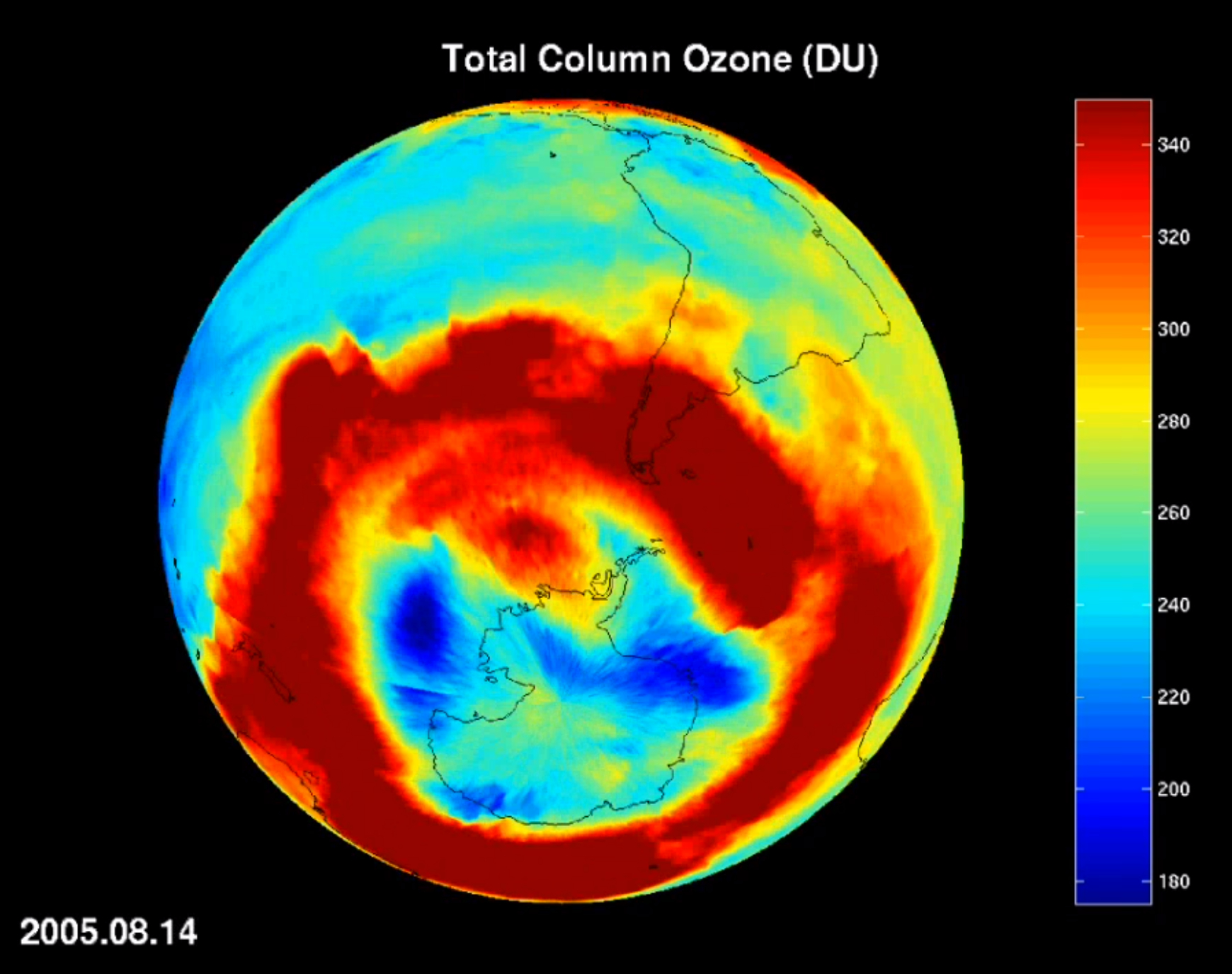 airs today s ozone total column