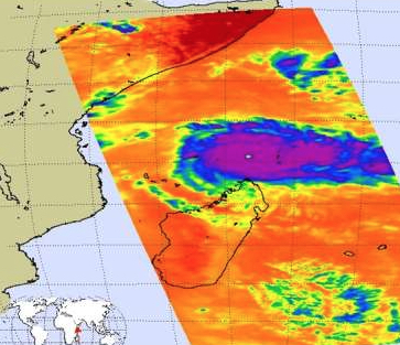 Aqua's AIRS Infrared Shows Powerful Storms