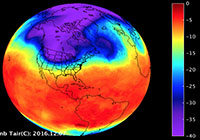 A Look at the U.S. Cold Snap from NASA Infrared Imagery
