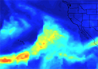 NASA's AIRS Instrument Tracks Series of Storms Battering California