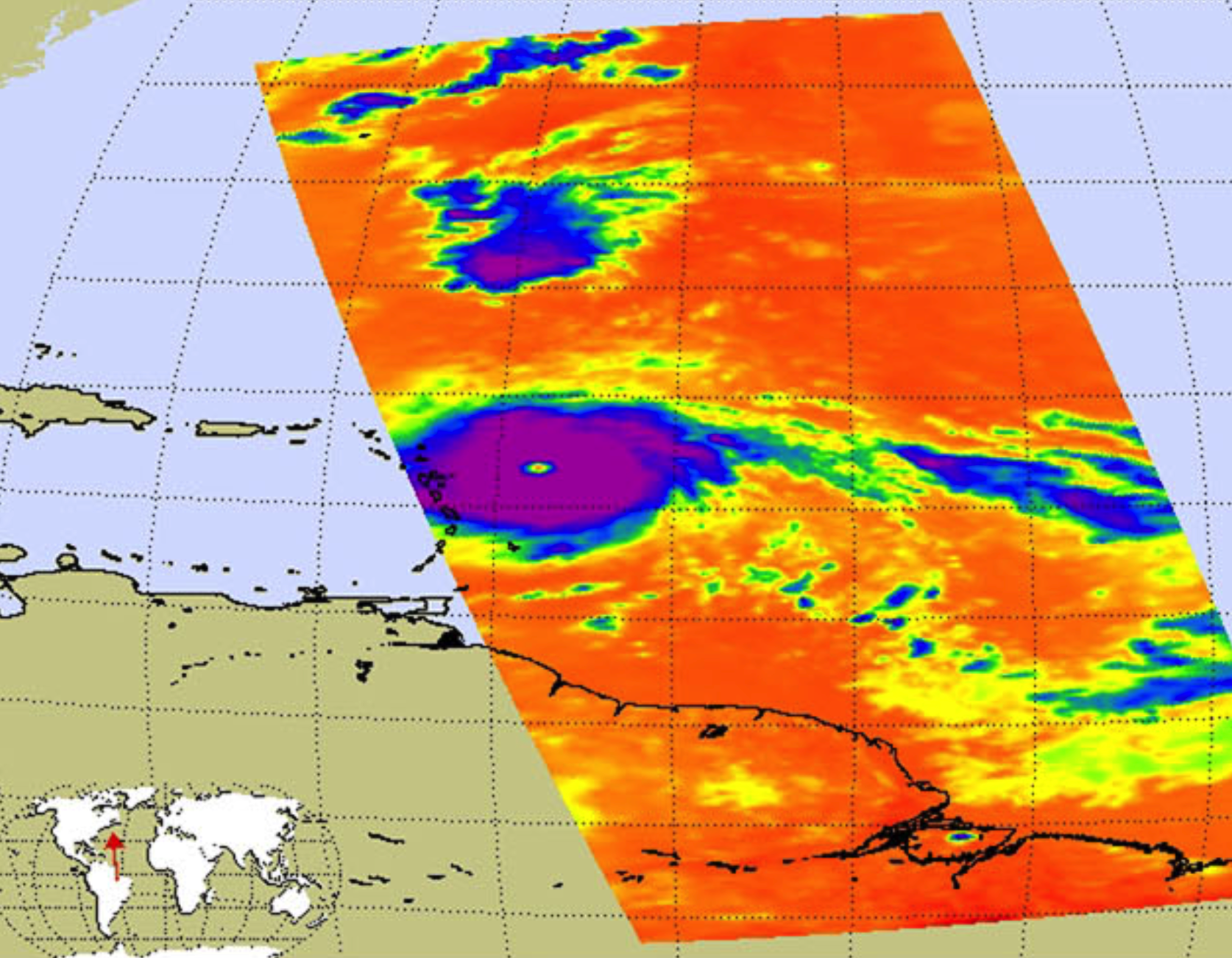 NASA Infrared Image of Irma Shows an Angry Eye